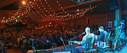 Ben Kaufmann, Adam Aijala & Bonnie Paine at the 2015 Mabon Concert (photo: Nick Negrete)