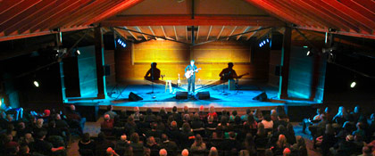 Ellis in the rebuilt Wildflower Pavilion on March 27 (photo: Eric Kean)