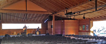 Soundcheck in the Wildflower Pavilion (photo: Eric Kean)