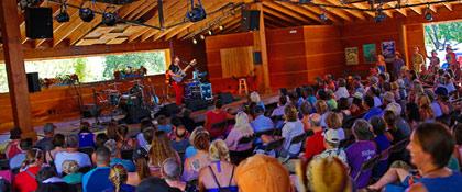 Wildflower Pavilion stage during Folks Fest (photo: Benko Photographics)