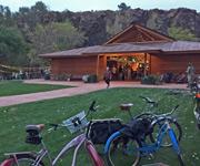 Bike parking at the Wildflower Pavilion