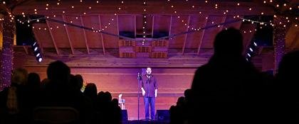 Shane Koyczan on the Wildflower stage (photo: Benko Photographics)