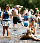 St. Vrain River at Folks Fest