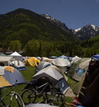 Camping at Telluride Bluegrass