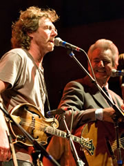 Sam Bush & Del McCoury (photo: Jennifer Schumacher)