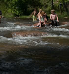 Young festivarians in the St. Vrain River (photo: Jennifer Schumacher)