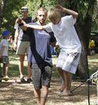 CMC slackline in the family area (photo: Benko Photographics)