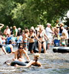 The St. Vrain River flowing through Planet Bluegrass (photo: Jennifer Schumacher)