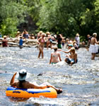 Tubing the St. Vrain during RockyGrass