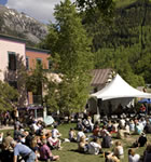 Elks Park workshop stage at Telluride Bluegrass