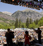 Onstage at Telluride Bluegrass