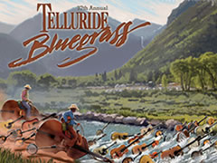 2010 Telluride Bluegrass Festival artwork by Scott Knauer