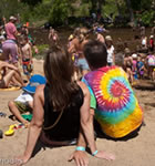 Planet Bluegrass beach along the St. Vrain River (photo: Gary Rhodes)