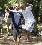 Slacklining in the Folks Fest family area (photo: Benko Photographics)