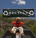Sustainable Festivation crewmember in Telluride (photo: Benko Photographics)