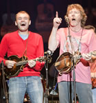 Chris Thile and Sam Bush at Telluride Bluegrass (photo: Benko Photographics)