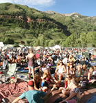 Tarp scene at Telluride Bluegrass (photo: Benko Photographics)