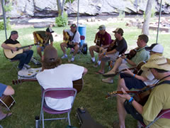 Guitar class at the RockyGrass Academy (photo: Benko Photographics)