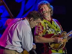 Edgar Meyer & Sam Bush at Telluride Bluegrass (photo: Benko Photographics)