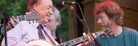 Earl Scruggs at 2006 RockyGrass (photo: Benko Photographics)