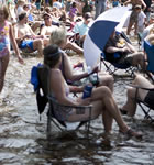 Festivarians in the St. Vrain River on Planet Bluegrass (photo: Benko Photographics)