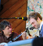 Bela Fleck & Chris Thile at the 2008 Telluride Bluegrass (photo: Benko Photographics)