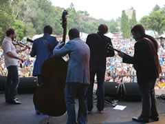Punch Brothers on the RockyGrass stage (photo: Benko Photographics)