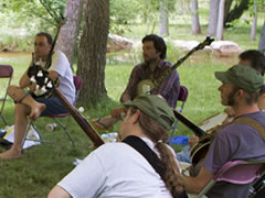 Banjo class at the RockyGrass Academy (photo: Benko Photographics)