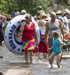 Tubing the St. Vrain River at RockyGrass (photo: Benko Photographics)