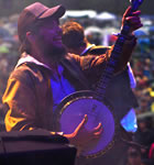 Winston Marshall of Mumford & Sons at 2011 Telluride Bluegrass  (photo: Benko Photographics)