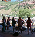 Onstage at Telluride Bluegrass (photo: Benko Photographics)