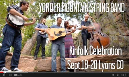 Yonder Mountain plays along the St. Vrain at Planet Bluegrass