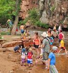 Kids beach on the St. Vrain River during RockyGrass (photo: Russell Bramlett)