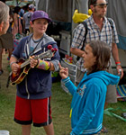 Pickin' in the onsite campground at RockyGrass (photo: Benko Photographics)