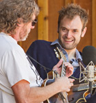 Sam Bush & Chris Thile on the Telluride stage (photo: Benko Photographics)