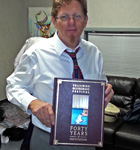 Tim O'Brien with our book 'Telluride Bluegrass Festival: Forty Years of Festivation'