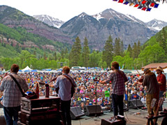 Trampled by Turtles on the Telluride Bluegrass stage (photo: Benko Photographics)