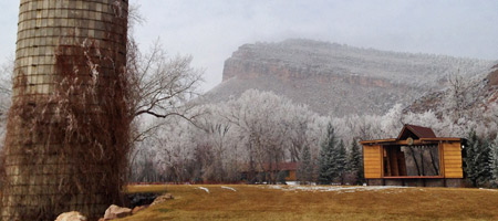Winter comes to the Planet Bluegrass Ranch in Lyons