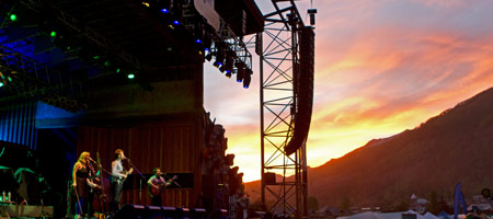Nickel Creek on the Telluride stage (photo: Benko Photographics)