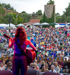 Ani DiFranco on the 2013 Folks Fest stage (photo: Benko Photographics)
