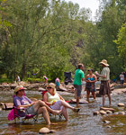 St. Vrain River through Planet Bluegrass (photo: Benko Photographics)
