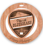 Planet Bluegrass holiday ornament