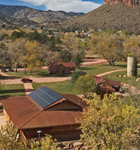 Solar panels on the Wildflower Pavilion in Lyons