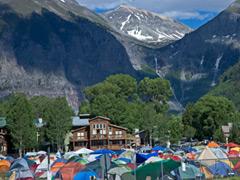 Camping at Telluride High School (photo: Benko Photogrpahics)