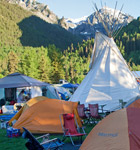 Warner Field campground at Telluride Bluegrass (photo: Benko Photographics)