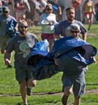 Morning tarp run at Telluride Bluegrass (photo: Benko Photographics)