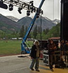Stage crew on the new Telluride Town Park stage