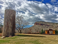 April on the Planet Bluegrass Ranch in Lyons