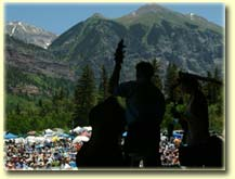 Edgar Meyer & Mike Marshall on the Telluride stage