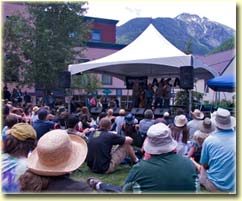 Elk Park Stage at Telluride Bluegrass